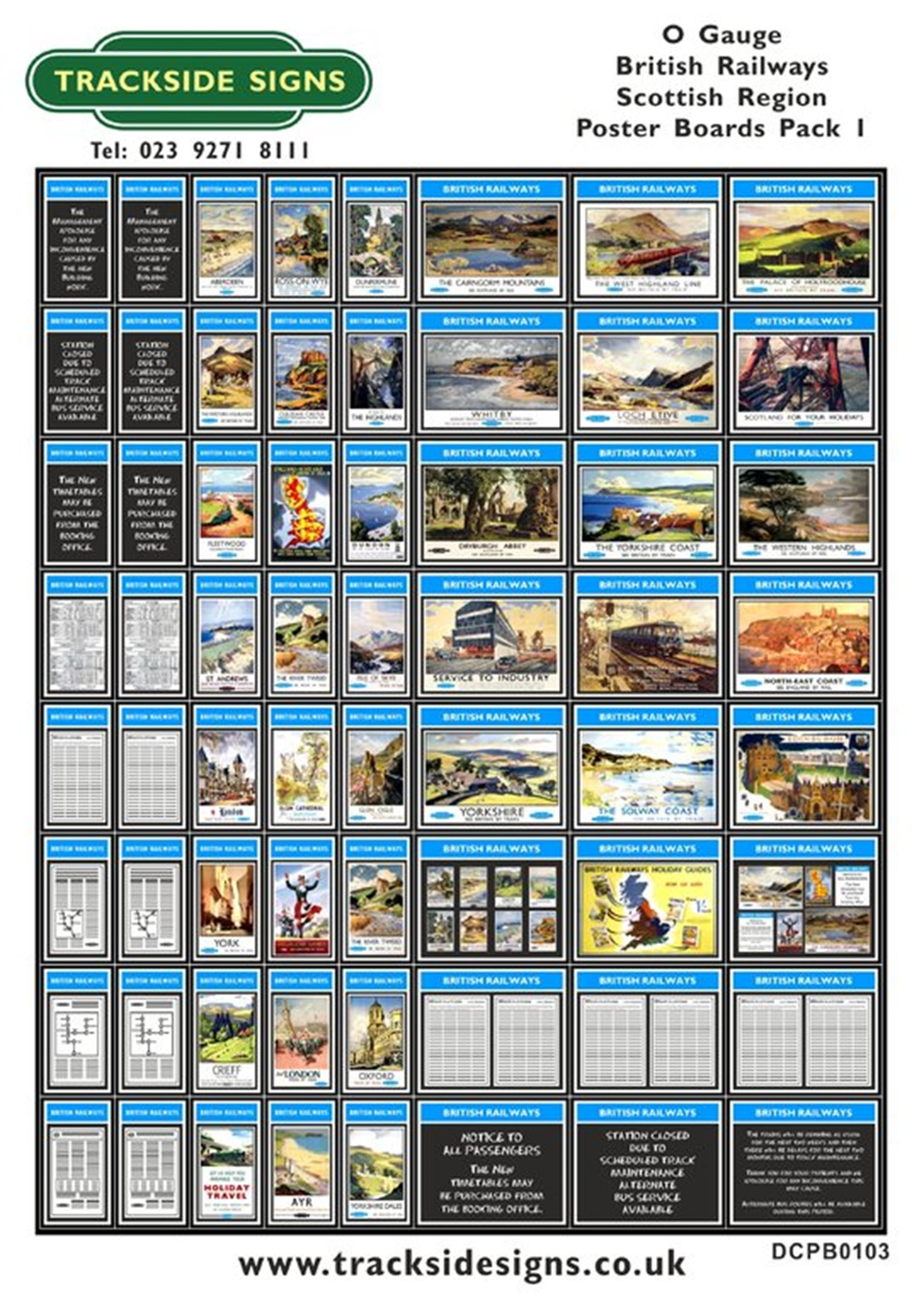 Die Cut BR Scottish Region Poster Boards