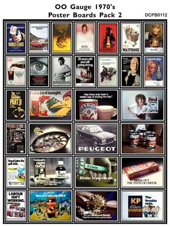 1970's Adverts Poster Boards Pack 2