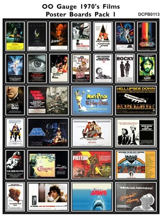 1970's Film Poster Boards Pack 1