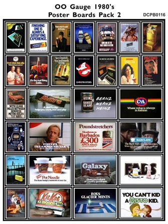 1980's Adverts Poster Boards Pack 2