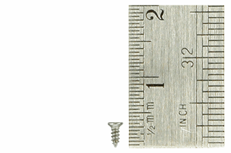 Countersunk Screws 1 x 3mm (60 Pieces)