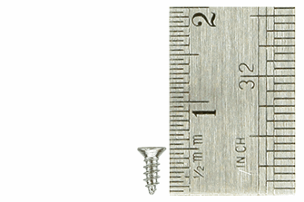 Countersunk Screws 1.5 x 4mm (60 Pieces)