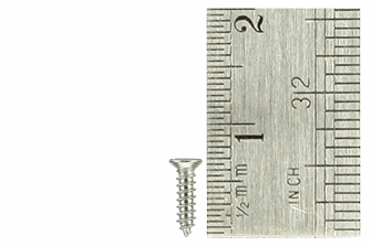 Countersunk Screws 1.5 x 6mm (60 Pieces)