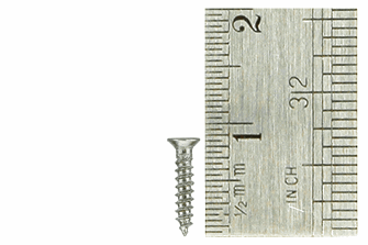 Countersunk Screws 1.5 x 8mm (60 Pieces)