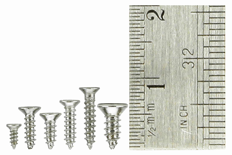 Countersunk Screw Set 8x Vials with 60 screws in each