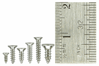 Countersunk Screw Set 8x Vials with 60 screws in each