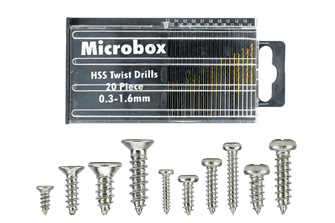 Mega Screw Set 16x 60 Vials (w/20 Drill Bit Set)