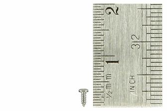 Pan Head Screws 1 x 3mm (60 Pieces)
