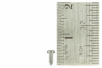Pan Head Screws 1.5 x 4mm (60 Pieces)
