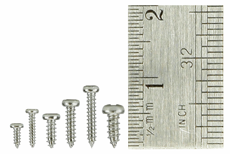 Pan Head Screw Set 8x Vials with 60 screws in each