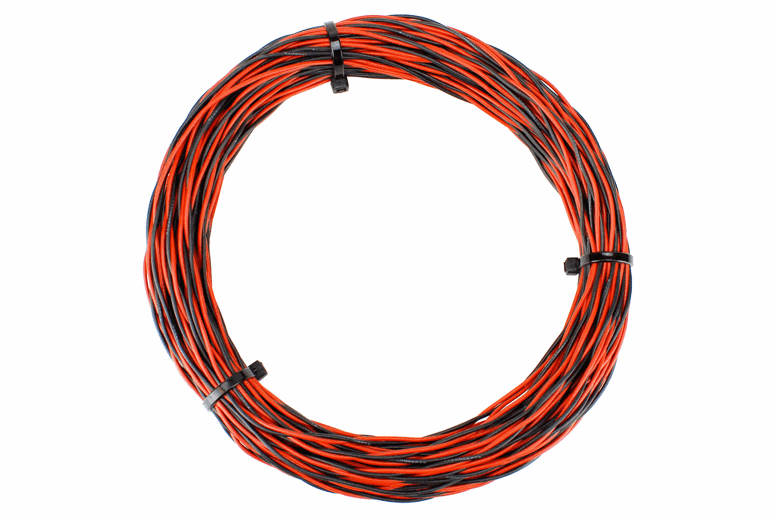 Twisted Bus Wire 25m of 1mm 26x 0.15 (17g) Twin Red/Black