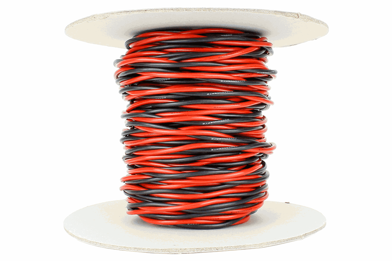 Twisted Bus Wire 25m of 2.5mm (13g) Twin Red/Black