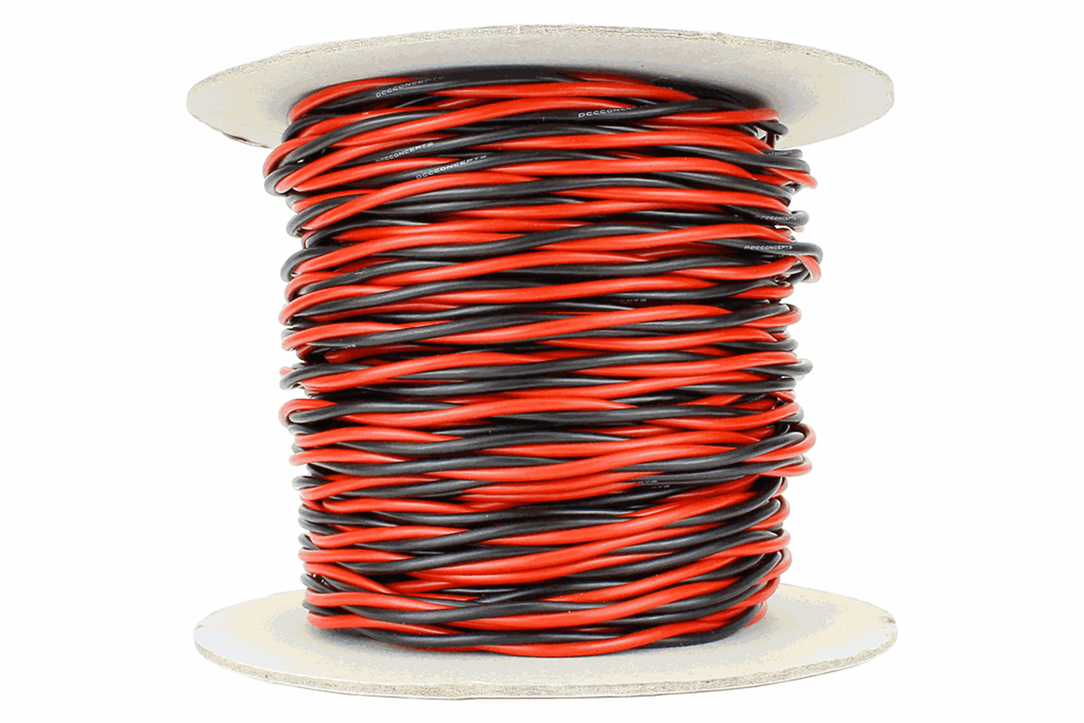 Twisted Bus Wire 50m of 2.5mm (13g) Twin Red/Black
