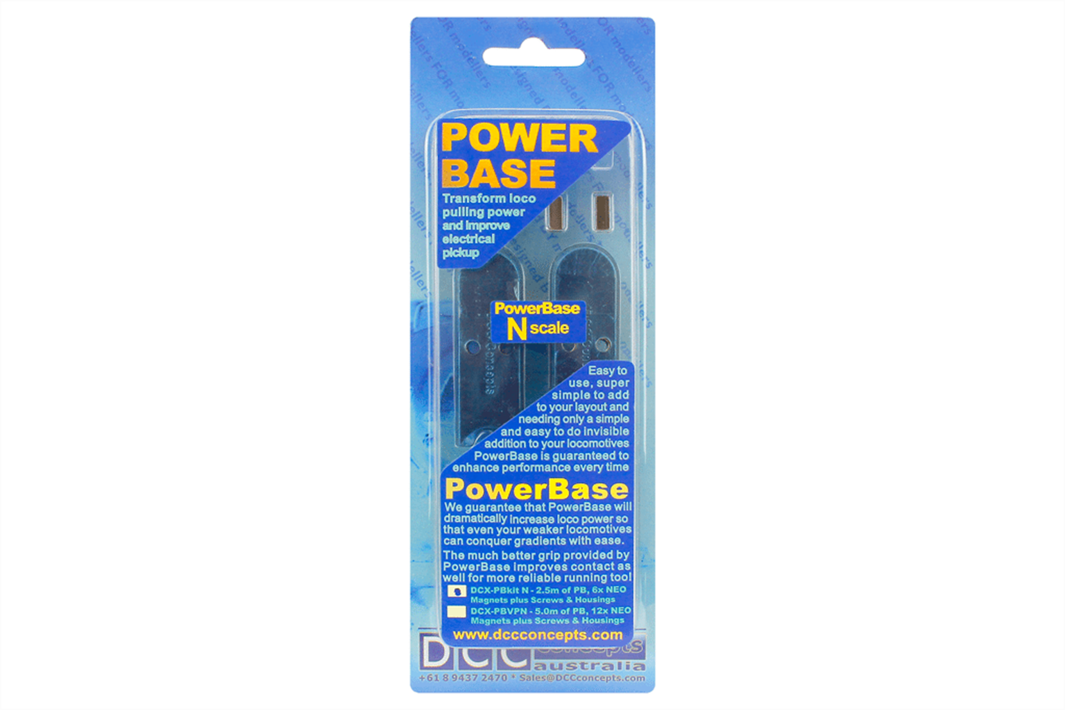DCC Concepts Powerbase OO Starter Kit (2.5m & 6 Magnets)