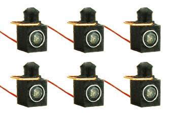 Working Loco Lamps LMS/BR (O or S Scale) Red (6 Pack)