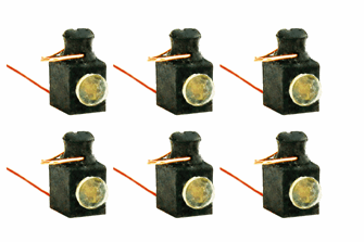 Working Loco Lamps LMS/BR (4mm Scale) White (6 Pack)