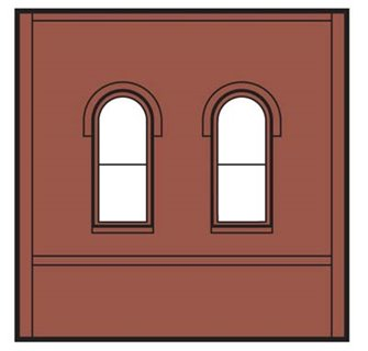 Dock Level Arch Window