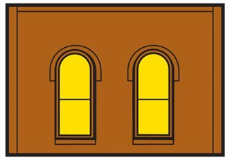 One Storey Arched 2 Windows