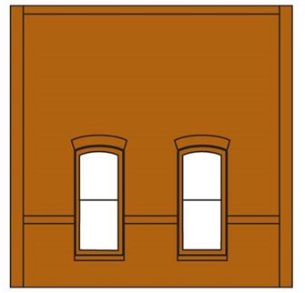 Street Level Rectangular Window