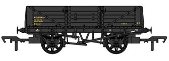 SECR 1347 5 Plank Open Wagon - BR Engineer's Black #DS14157