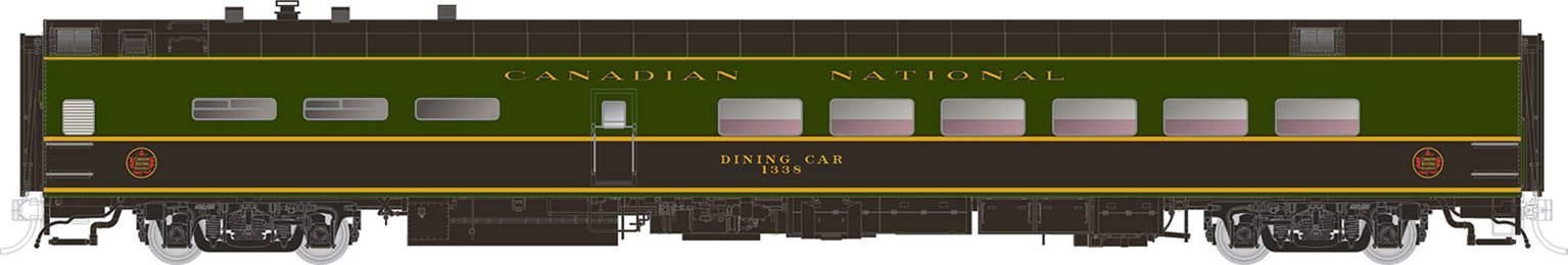 Canadian National (1954 Scheme) P-S Lightweight Pullman Dining Car #1346