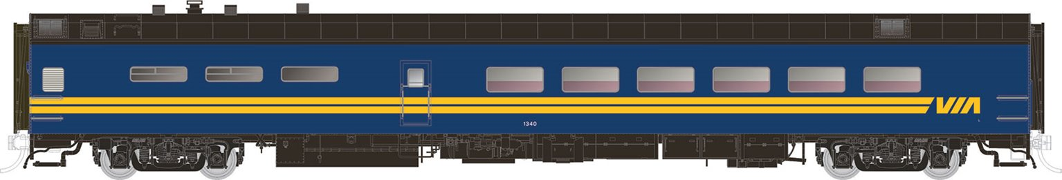 VIA Rail Canada Pullman-Standard Lightweight Dining Car No.1341