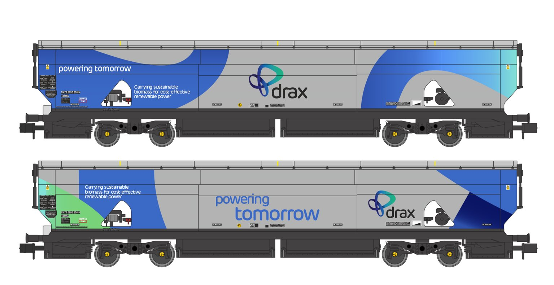 Drax Power IIA-D Biomass Hopper Twin Pack (Original Drax Power Livery) - Pack B
