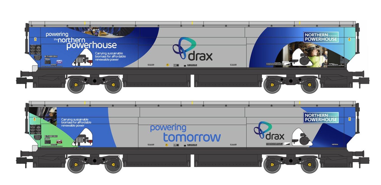 Drax Power IIA-D Biomass Hopper Twin Pack (Northern Powerhouse Drax Livery) - Pack B