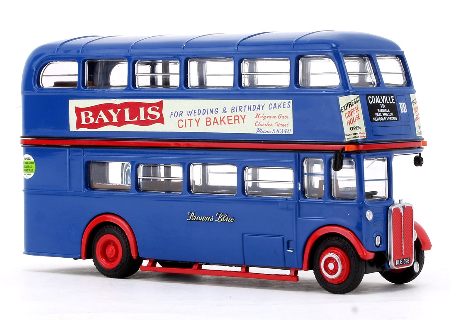 AEC RT Bus Browns Blue Coalville via Barwell (KLB 596)
