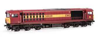 Class 58 58039 EWS Livery Diesel Locomotive (Weathered Edition)