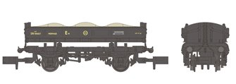 14T 'Mermaid' Side Tipping Ballast Wagon BR Departmental Black