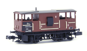 BR 20T 'Shark' Ballast Plough Brake Van BR Bauxite (Departmental)