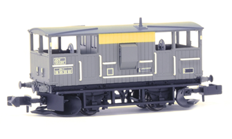 BR 20T 'Shark' Ballast Plough Brake Van BR Engineers Grey & Yellow