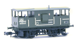BR 20T 'Shark' Ballast Plough Brake Van BR Departmental Olive Green