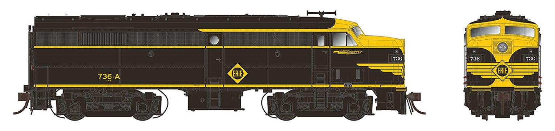 Alco/MLW FA-2 Locomotive - Erie #737-D - DC/DCC/Sound