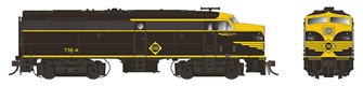 Alco/MLW FA-2 Locomotive - Erie #737-D - DC/Silent