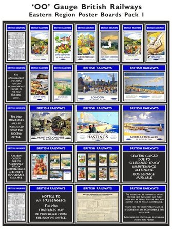 British Railways Eastern Region Poster Boards Pack 1