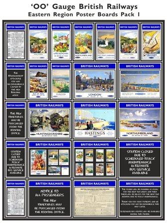 British Railways Eastern Region Poster Boards Pack 1