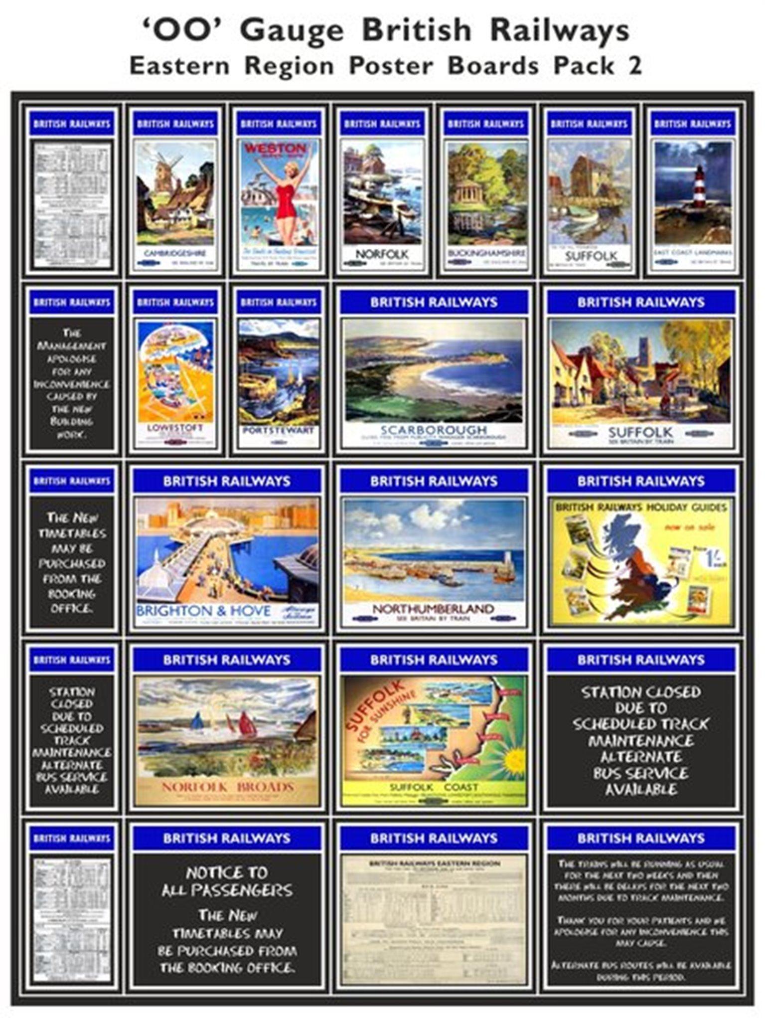 British Railways Eastern Region Poster Boards Pack 2
