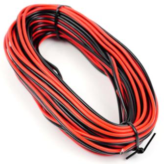 GM09RB Red/Black Twinned Wire (14 x 0.15mm) 10m