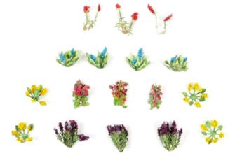 Laser Cut Minis - OO/HO Scale Garden Flowers (17)