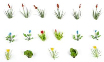 Laser Cut Minis - OO/HO Scale Water Plants (17)