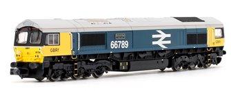 GBRf Class 66789 'British Rail 1948-1997' Large Logo Blue Diesel Locomotive