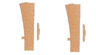 3mm Sectional Track LH Turnout Cork Underlay (2)