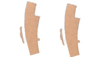 3mm Sectional Track RH Curve Turnout Cork Underlay (2)
