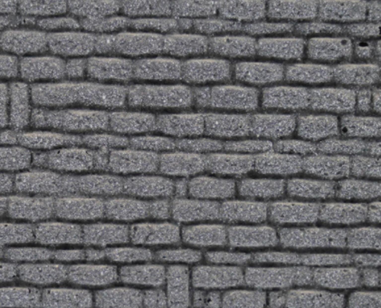Foam Walling - Grey Stone Wall & Butresses