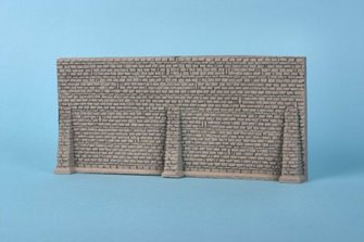 Foam Walling - Grey Stone Wall & Butresses