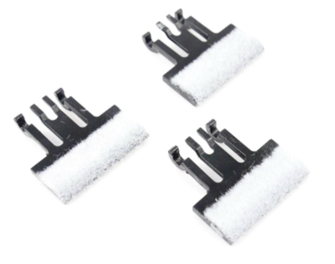 Track Cleaning Pads. Axle Hung Pack of 3