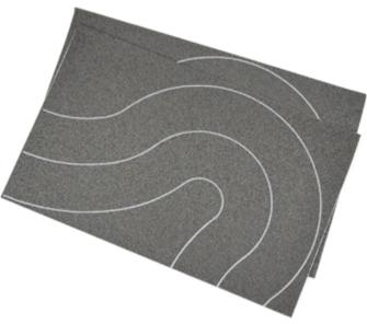 Self Adhesive Tarmac Road Universal Curves OO (80mm) 2pcs