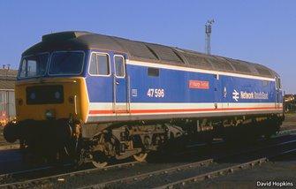 Class 47 596 'Aldeburgh Festival' Network SouthEast (Late)